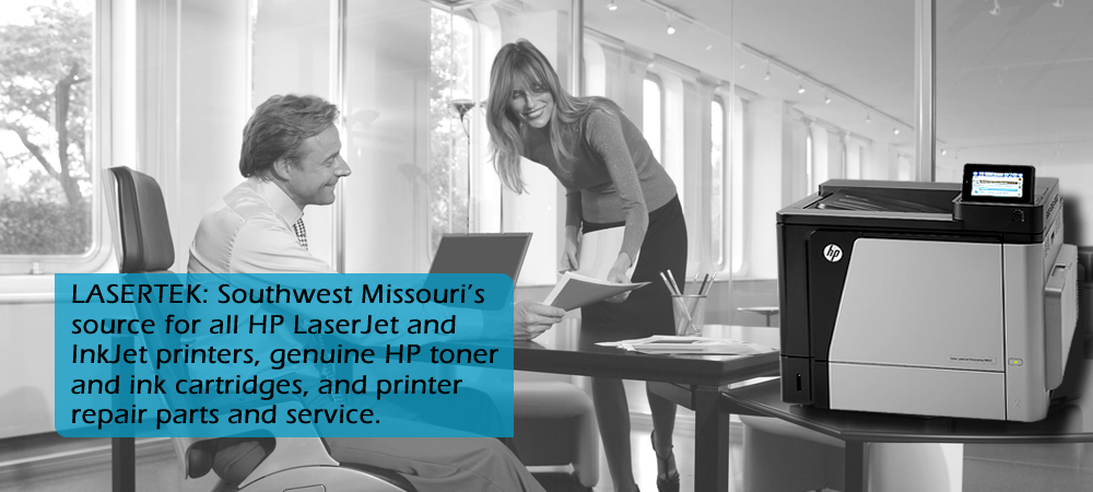 Lasertek: Southwest Missouri's source for all HP LaserJet and InkJet printers, genuine HP toner and ink cartridges, and printer repair, parts, and service.